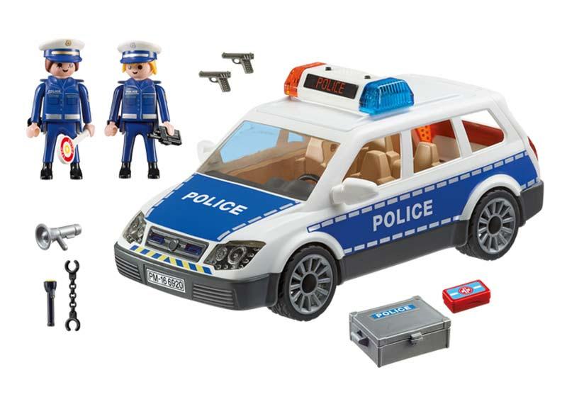 Contenido de Playmobil® 6920 Coche de Policía con Luces y Sonido