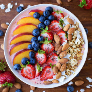 Berry, Peach, and Coconut Smoothie Bowl