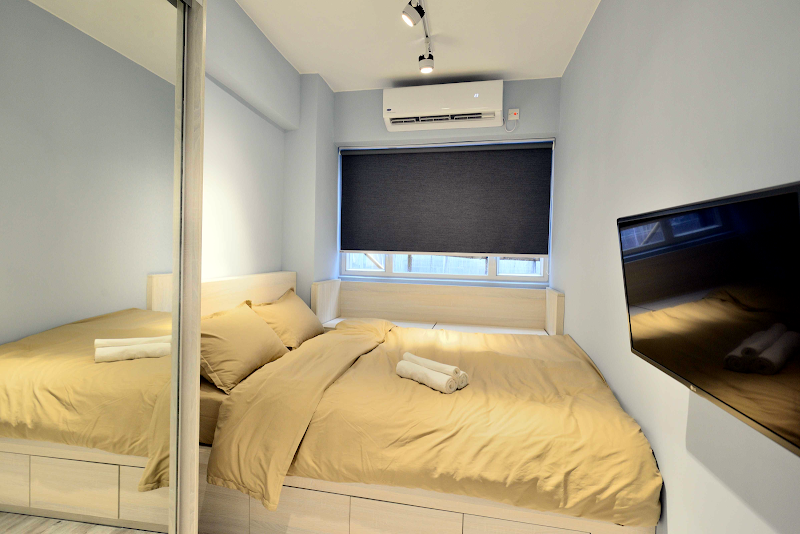 Bedroom at Tane Residence on Mercer Street, Hong Kong