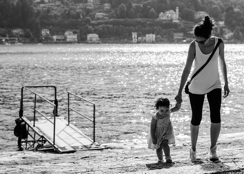 passeggiando in riva al lago di Leso