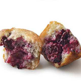 Blackberry Cornbread Muffins
