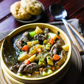 One Pot Bacon Braised Lamb Stew {Grain Free}.