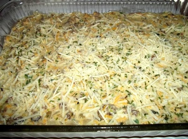 Sprinkle with Parmesan cheese. Bake for 40 - 45 minutes or until pick comes...