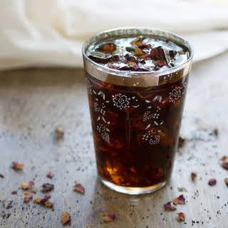 Homemade Cardamom Vanilla Syrup.