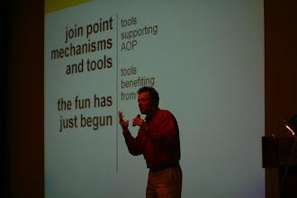 Photo: Gregor Kiczales doing his keynote, EclipseCon 2004