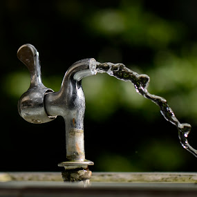 Freeze by Jeremy Mendoza - Artistic Objects Other Objects ( faucet, water, tapwater, liquid, metal, freeze, steel,  )