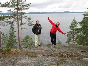 Photo: Eräs purjehduskurssinäkymä Ristinselältä.