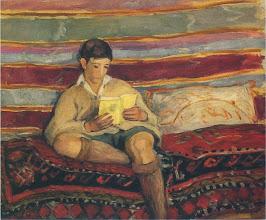 """Photo: Henri Lebasque, """"Giovane che legge"""""""