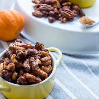 Pumpkin Spice Candied Nuts.