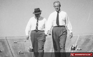 Photo: Jones and Wilkinson on Owen Field in Norman.