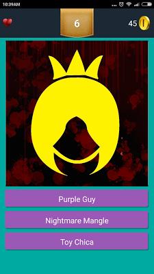 Character Quiz for FNAF - screenshot