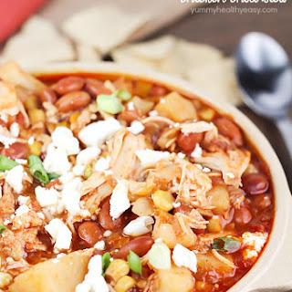 Crock Pot Pinto Bean Chicken Chili Stew.