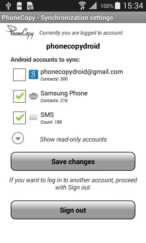 PhoneCopy- screenshot