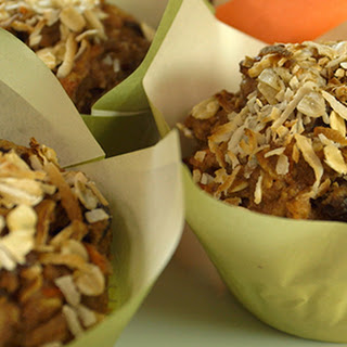 Coconut Carrot Morning Glory Muffins.