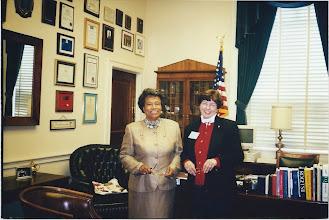 Photo: US Congresswoman Eva Clayton and Dianne McDowell