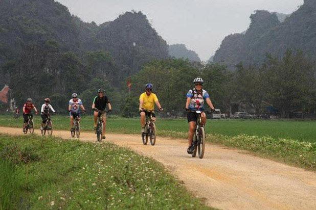 Circuit à vélo à Tam Coc