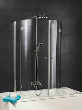 Cabine en U pour baignoire, 4 éléments