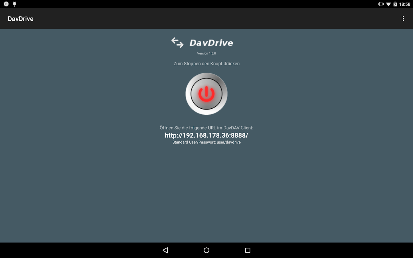 DavDrive- screenshot