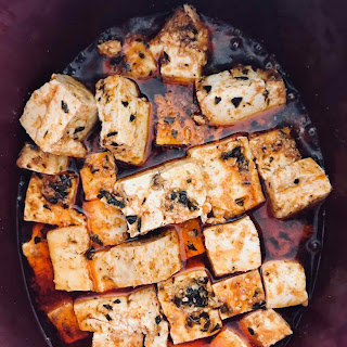Slow Cooker Buffalo Tofu.