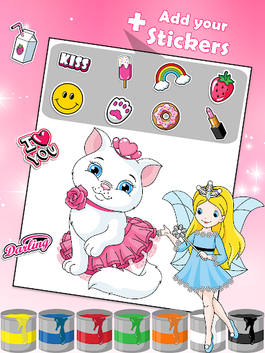 Princess Coloring Book 2 android2mod screenshots 3