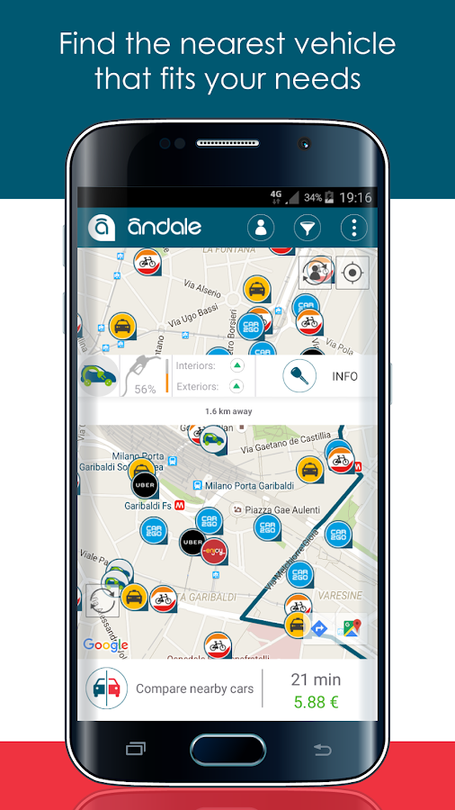 Andale - car share aggregator!- screenshot
