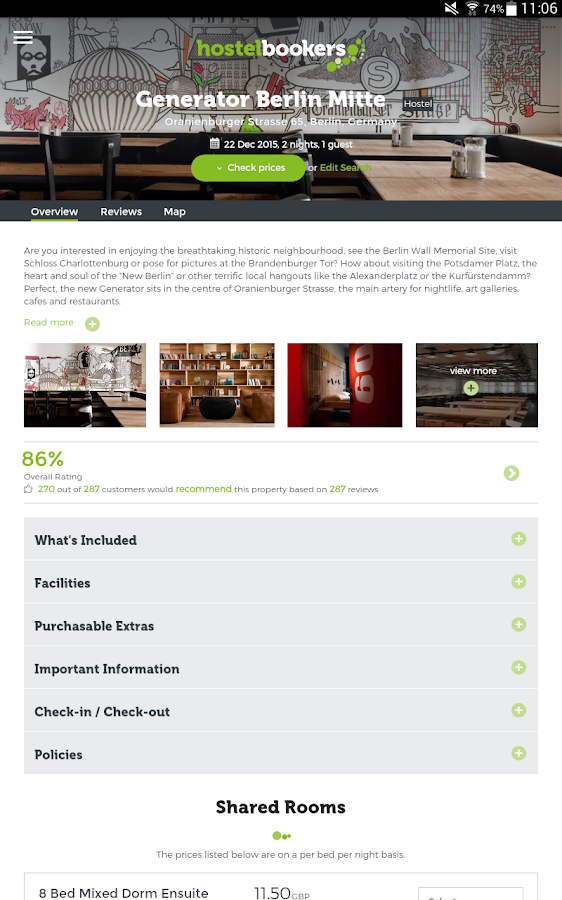 hostelbookers - Hostels- screenshot