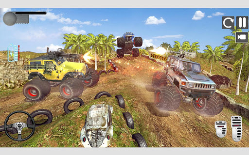 Monster Truck Shooting Race 2020: 3D Racing Games android2mod screenshots 13