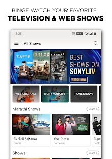 SonyLIV -TV Shows, Movies & Live Sports Online Screenshot