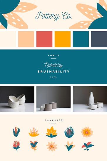 Pottery Co. Brand Board - Brand Board Template