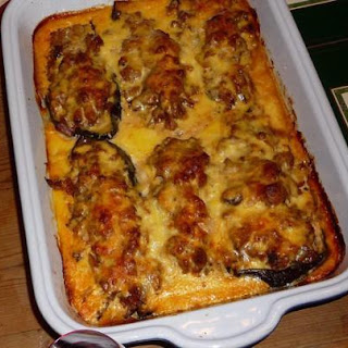 Melitzanes Papoutsakia (Greek Stuffed Eggplant) Recipe