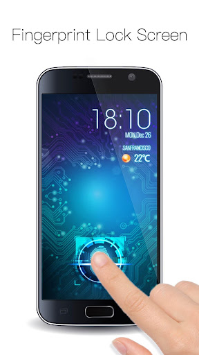 Fingerprint Lock with Analog Clock Prank  screenshots 4