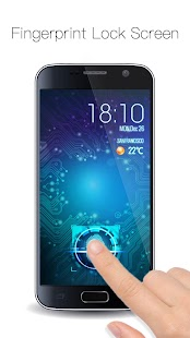 Fingerprint Lock with Analog Clock Prank - náhled
