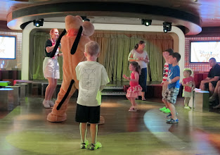 Photo: Dancing with Goofy on the Disney Dream