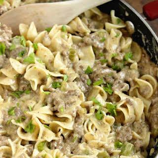 Creamy Beef Noodles.