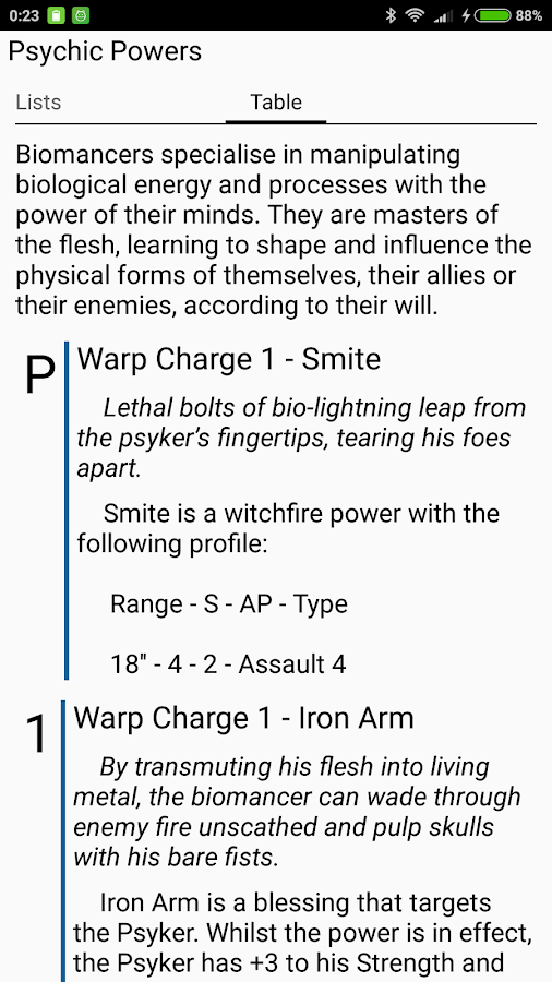 Rules40k - Warhammer 40k guide app (7th edition)- screenshot