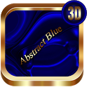 Abstract Blue 3D Next Launcher theme icon