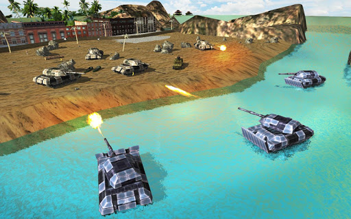 Army Tank Battle War On Water : Armoured Vehicle apkpoly screenshots 7