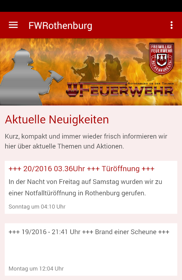 Feuerwehr Rothenburg od.Tauber- screenshot