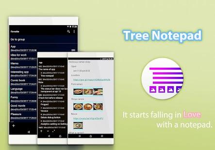 Tree Notepad - náhled