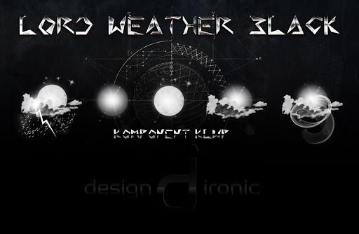 Download Komponent Klwp Lord Weather Black MOD APK 1