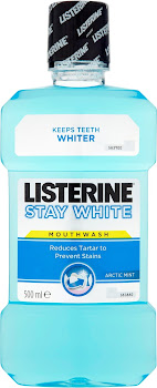 Listerine Stay White Mouthwash - Arctic Mint, 500ml