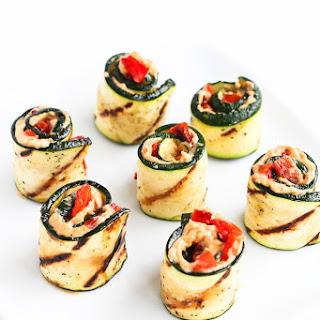 Grilled Zucchini Hummus Roll-Ups.