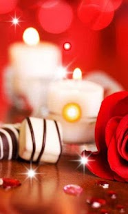 Candle and Rose Romantic - náhled