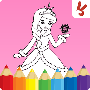 Kids Coloring Book Princess