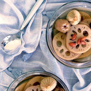 Lotus Root Sweet Soup with Figs and Honey Dates Recipe