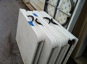 Photo: White folding 6 ft tables