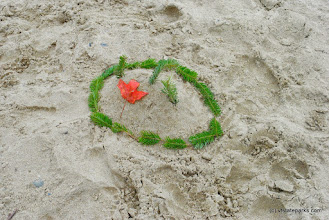 Photo: Art in the sand at Boulder Beach State Park by Nicole Olmstead