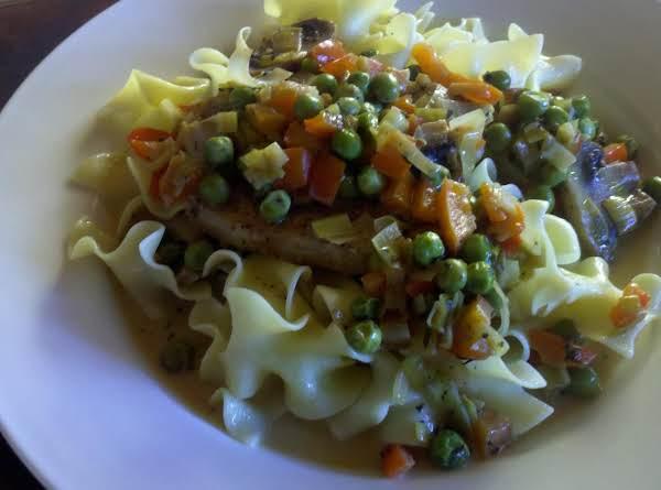 Pork Loin Chops With Leek, Mushrooms & Peppers Recipe