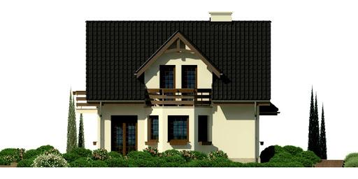 Dom przy Kalinowej 3 - Elewacja lewa