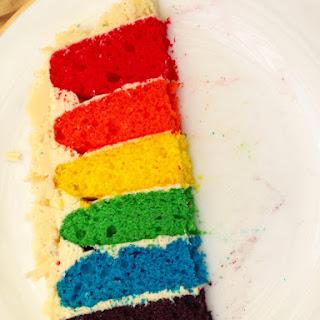 Rainbow Layer Cake with Swiss Meringue Buttercream